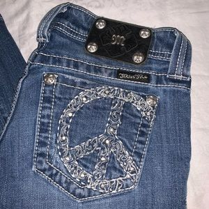 Miss Me Bootcut Jeans EUC from Buckle Peace Sign